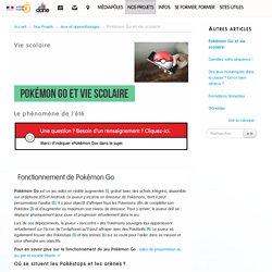 Pokémon Go et vie scolaire - Délégation académique au numérique éducatif