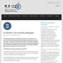 La tablette, une nouvelle pédagogie – Délégation Académique au Numérique