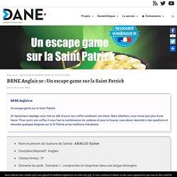 BRNE Anglais 5e : Un escape game sur la Saint Patrick