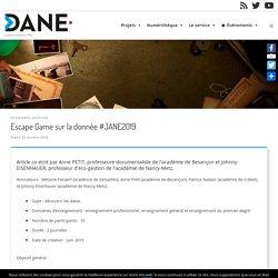 Escape Game sur la donnée #JANE2019 – Délégation académique au numérique