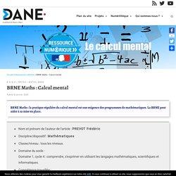 BRNE Maths : Calcul mental – Délégation académique au numérique