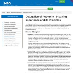 Delegation of Authority - Meaning, Importance and Principles of Delegation