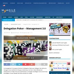 Delegation Poker - Management 3.0 - My Agile Partner Scrum