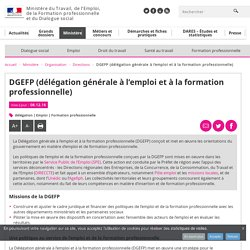 DGEFP (délégation générale à l'emploi et à la formation professionnelle) - Directions