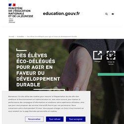 Des élèves éco-délégués pour agir en faveur du développement durable