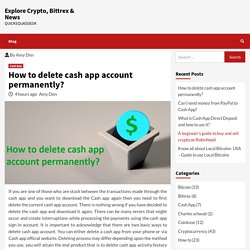 How to delete cash app account permanently?