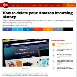 How to delete your Amazon browsing history