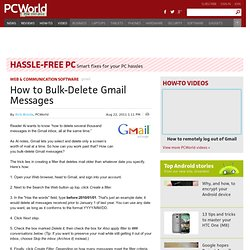 how to sort and delete gmail messages
