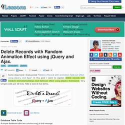 Delete Records with Random Animation Effect using jQuery and Ajax.