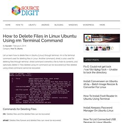 How to Delete Files in Linux Ubuntu Using rm Terminal Command