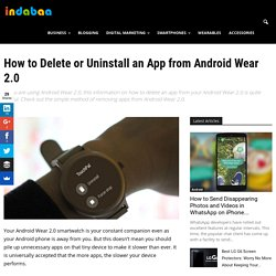 How to Delete or Uninstall an App from Android Wear 2.0