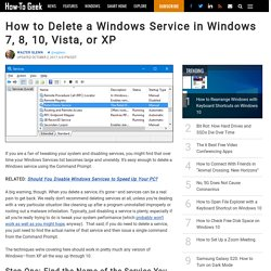 How to Delete a Windows Service in Windows 7, 8, 10, Vista, or XP