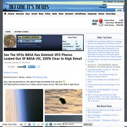 See The UFOs NASA Has Deleted: UFO Photos Leaked Out Of NASA-JSC, 100% Clear In High Detail