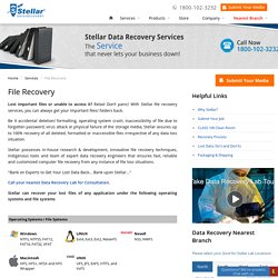 Deleted/Lost File Recovery Services in India - Stellar Data Recovery