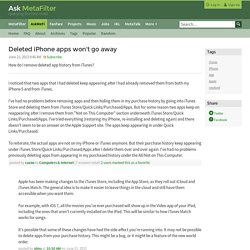 Deleted iPhone apps won't go away - iTunes Apple resolved
