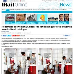 No females allowed! IKEA under fire for deleting pictures of women from its Saudi catalogue