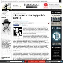 Gilles Deleuze : Une logique de la création