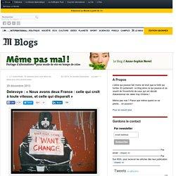 Delevoye : «Nous avons deux France : celle qui croît à toute vitesse, et celle qui disparaît»