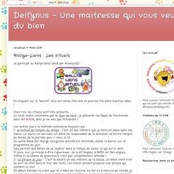 Delfynus - Une maitresse qui vous veut du bien: Rallye-Liens : Les rituels