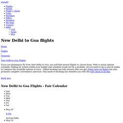 Delhi to Goa - Book Delhi to Goa Flights Online - Musafir