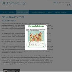 DELHI SMART CITIES - DDA Smart City