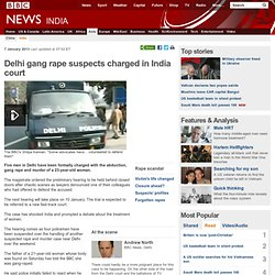 Delhi gang rape suspects appear in India court