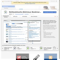Интернет-магазин Chrome - Delibookmarks (Delicious Bookmarks)