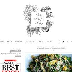 delicata squash + lime tabbouleh