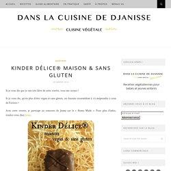 Kinder Délice® maison, {recette végétalienne sans gluten}