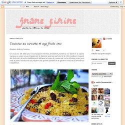Couscous au curcuma et aux fruits secs