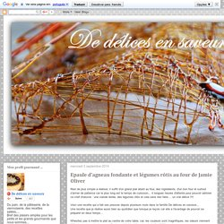 De délices en saveurs: Epaule d'agneau fondante et légumes rôtis au four de Jamie Oliver