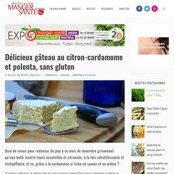 Délicieux gâteau au citron-cardamome et polenta, sans gluten