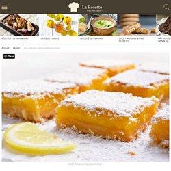 Les délicieux carrés sablés au citron