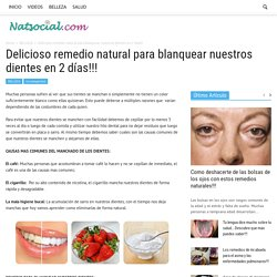 Delicioso remedio natural para blanquear nuestros dientes en 2 días!!! - NatSocial.com