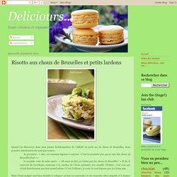 Risotto aux choux de Bruxelles et petits lardons