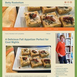A Delicious Fall Appetizer Perfect for Cool Nights