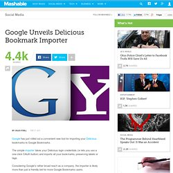 Google Unveils Delicious Bookmark Importer