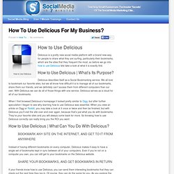 How To Use Delicious For My Business?
