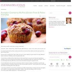 Pumpkin Cranberry Muffins (Gluten Free & Paleo Friendly)