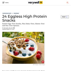 24 Delicious Eggless High Protein Snacks