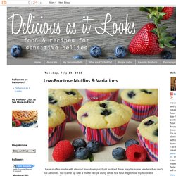 Delicious as it Looks: Low-Fructose Muffins & Variations