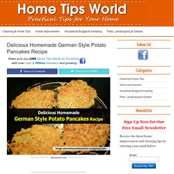 Delicious Homemade German Style Potato Pancakes Recipe