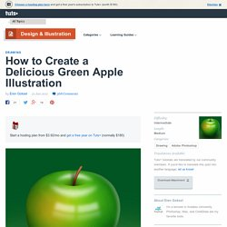 Delicious Green Apple Illustration