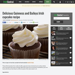 Guinness and Baileys Irish cupcakes