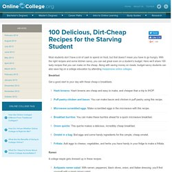 100 Delicious, Dirt-Cheap Recipes for the Starving Student - Online College