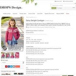 Daisy Delight Cardigan / DROPS Children 34-5