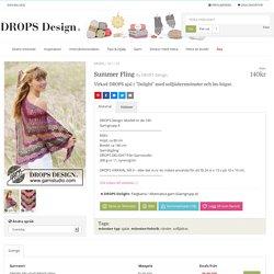 """Summer Fling / DROPS 167-20 - Virkad DROPS sjal i """"Delight"""" med solfjädersmönster och lm-bågar. - Gratis mönster från DROPS Design"""