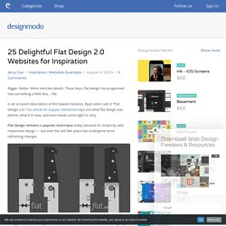 25 Delightful Flat Design 2.0 Websites for Inspiration
