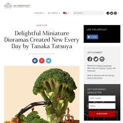 Delightful Miniature Dioramas Created New Every Day by Tanaka Tatsuya