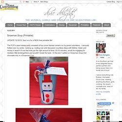 Snowman Soup {Printable}